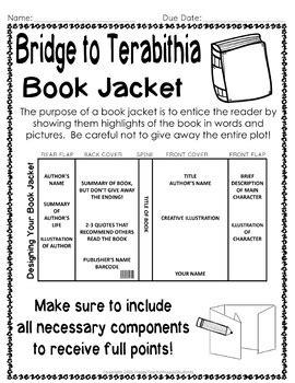 book report on bridge to terabithia bridge to terabithia project create a book jacket a