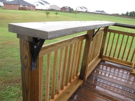 Deck Countertop by Bar On Wood Deck See Steel Supports Renovations And
