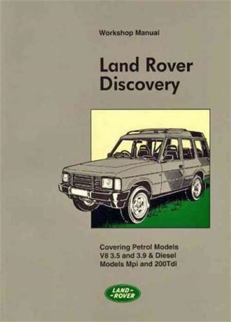 service manual car manuals free online 1994 land rover discovery parental controls old car