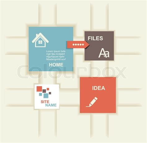 modern graphic design layout modern design template graphic or website layout vector