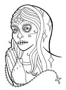 dia de los muertos coloring pages dia de los muertos coloring pages to and print