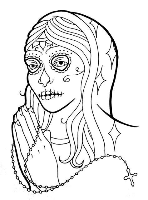 dia drawing dia de los muertos coloring pages to and print
