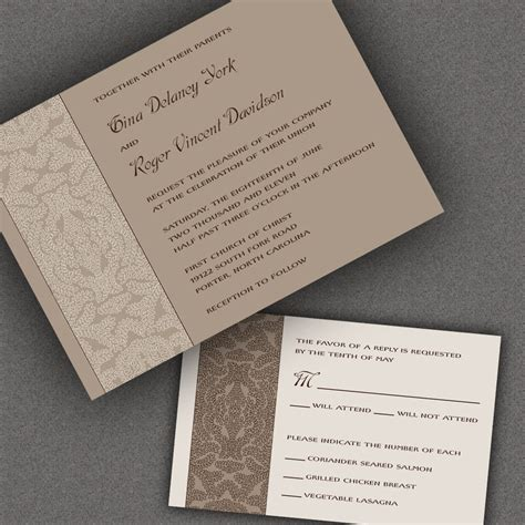 Wedding Attire Invitation Etiquette by Wedding Invitation Formal Templates Picture Ideas References