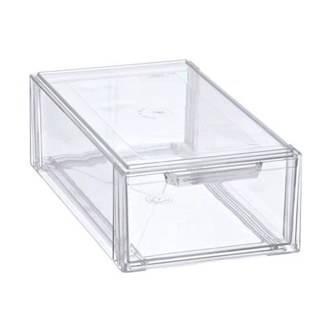 stacking bathroom storage drawers clear stackable drawers for under the bathroom sink 7 99