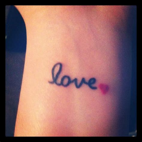 small love tattoo on wrist i would put it on my shouder