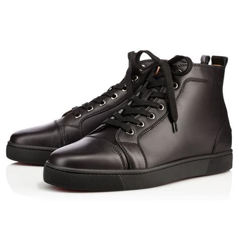 black louboutin sneakers christian louboutin louis mens flat in black for