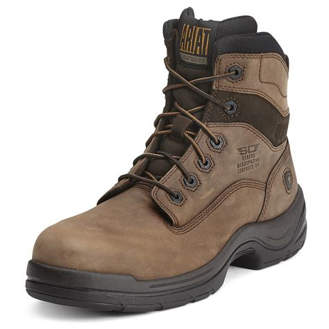 composite toe boots ariat flexpro 6 inch composite toe esd work boot 10012946