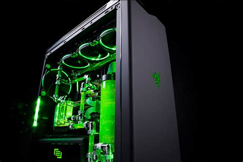 razer computer desk razer unveils liquid cooled gaming pc