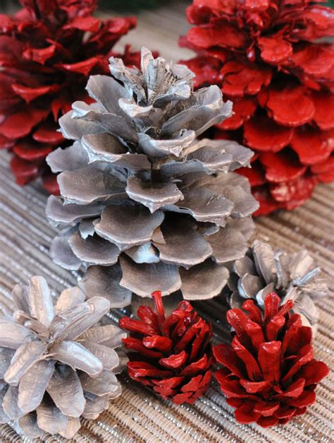 diy painted pine cones two