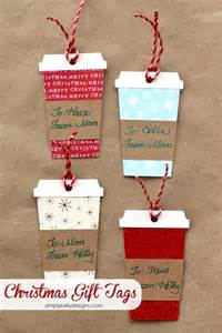 coffee or latte container christmas gift tags with free