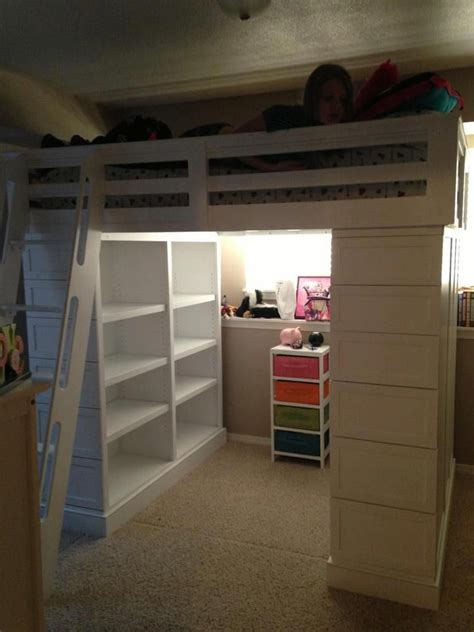 full size loft beds full sized loft bed in white this photo shows the side