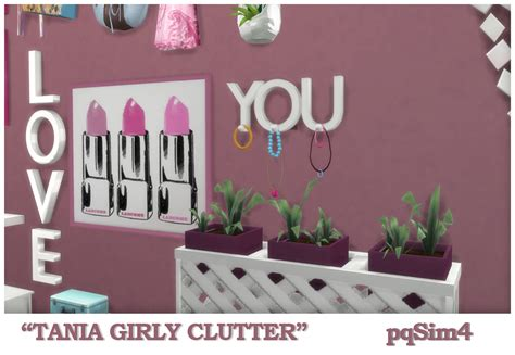 sims 4 cc clutter quot tania quot girly clutter sims 4 custom content
