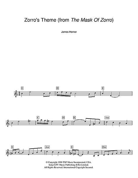 theme song zorro lyrics zorro s theme from the mask of zorro sheet music by