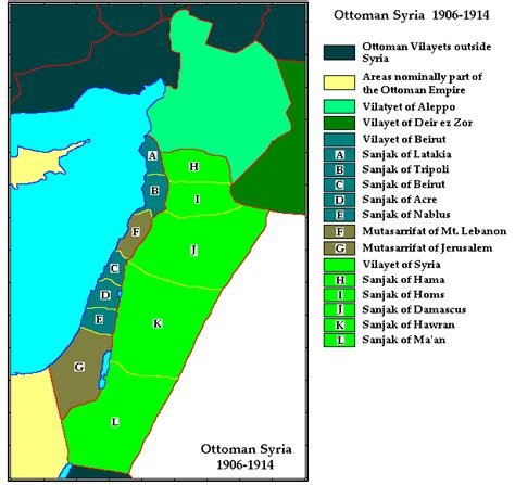ottoman syria map capital is the first settler palestine israel power