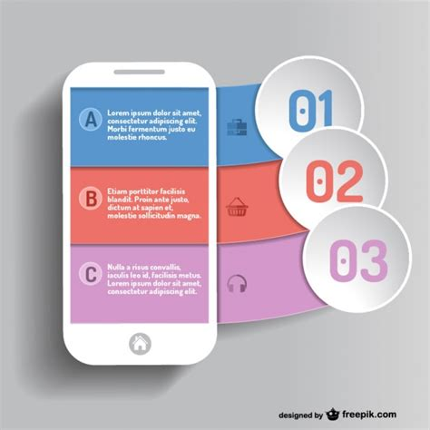 mobile and free mobile mobile app infographic vector free
