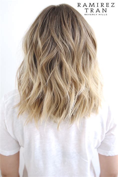 dirty blonde ombre short summer cut color ramirez tran salon