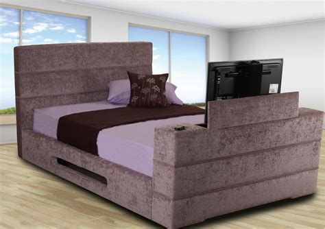 Bed Frame With Built In Tv Stand Cool Beds With Built In Tv Homesfeed
