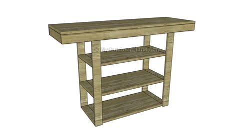 hall table plans myoutdoorplans  woodworking plans