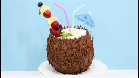martini shaped cake coconut cocktail 3d cake how to decorate with chocolate