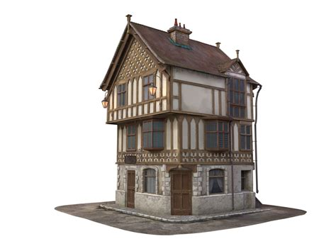 medieval house medieval house 3d model max obj lxo lxl mtl cgtrader com