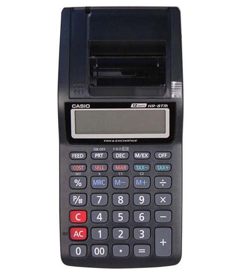 Calculator Printing Casio Hr 8tm casio hr 8tm black printing calculator buy at best price in india snapdeal