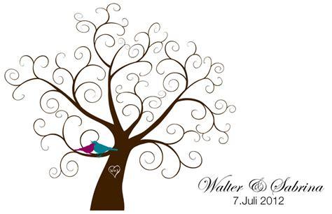fingerprint tree card template diy montag diy fingerabdruck baum by weddings k 246 ln