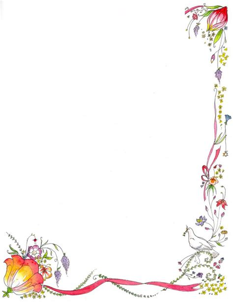 design frame paper book border template latest flower green border design