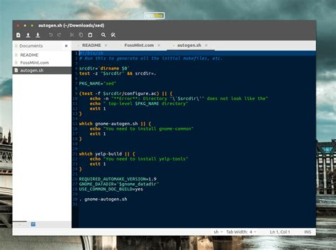 wordpress theme editor linux xed text editor a replacement of gedit and pluma