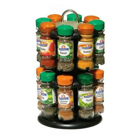 Spices And Spice Rack 2 tier spice rack with 16 schwartz spices