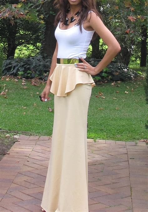 peplum maxi skirt summer fashion