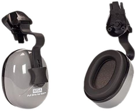 Earmuff Safety Msa msa safety 10129327 non electronic helmet mounted earmuff