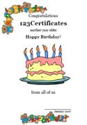 Free Printable Birthday Cards For Adults Free Printable Birthday Certificates Printable Birthday