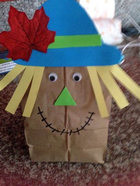 Paper Bag Scarecrow Craft For Preschoolers - paper bag scarecrow scarecrow bags bags