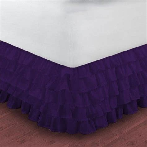 purple bed skirt king size ruffle bed skirt egyptian cotton 1000tc purple
