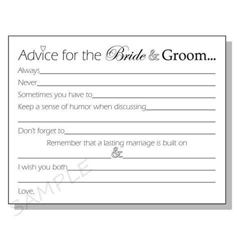 And Groom Advice Cards Template diy advice for the groom printable cards for a