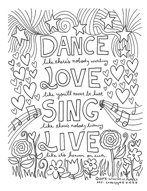printable coloring pages with inspirational quotes free coloring book pages for grown ups inspiring quotes
