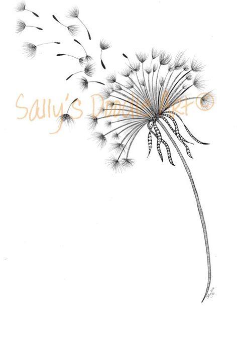 dandelion seed tattoo a dandelion wish by sallysdoodleart on etsy virgenious