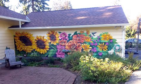 outdoor murals for walls the talking walls a garden for winter