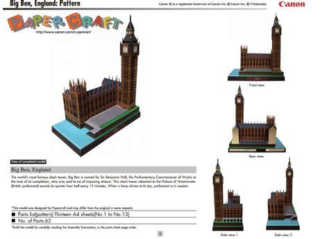 Big Ben Papercraft - papercraft big ben londres 183 manualidades de papel
