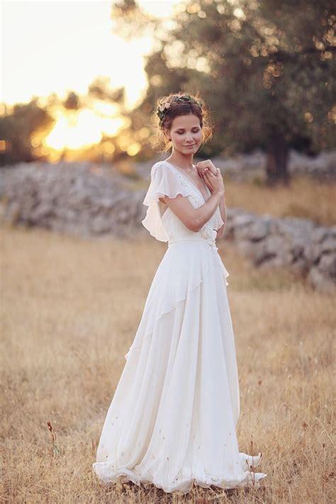romantic  airy flowy wedding dresses pregnant