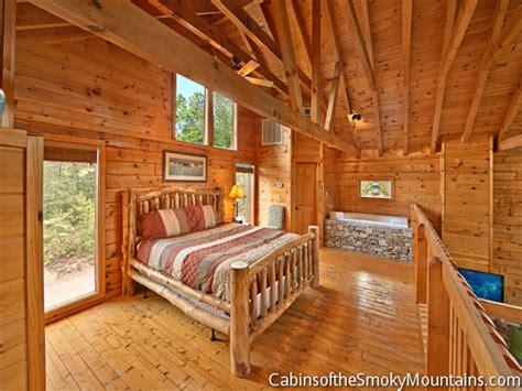 indigo moon lodge  bedroom luxury cabin  sauna