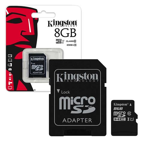 Micro Sd Uhs kingston micro sd sdhc memory card 45mb s uhs 1 class 10 size sd adapter ebay