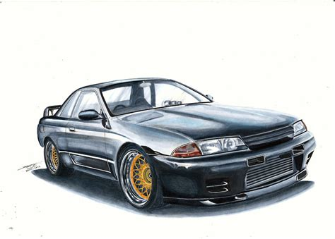 nissan skyline drawing nissan skyline r32 gt r by mglola on deviantart