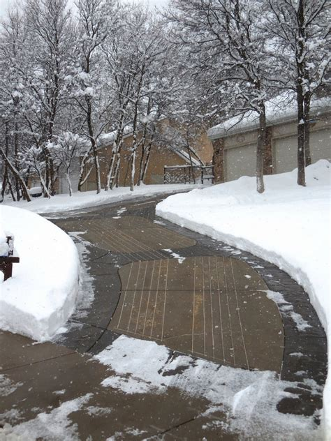heated driveway ideas and snow melting systems for your house