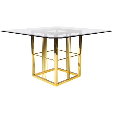 brass and glass dining table brass and glass dining table italy 1970s 1980s for sale