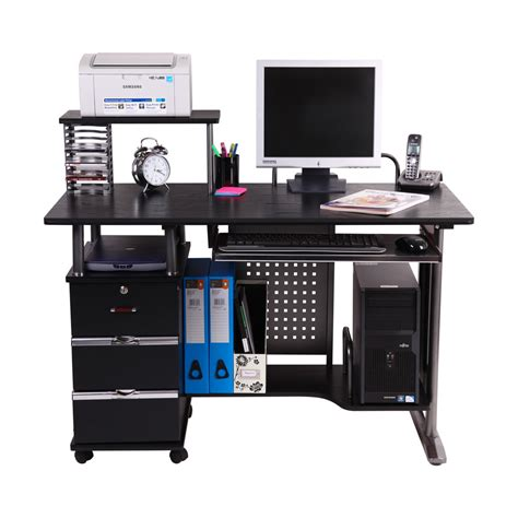 Computer Work Desk San Ramon Computer Desk Work Station Pc Table Bench Home Office Study Furniture Ebay