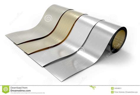 Kemasan Aluminium Foil Roll Rolls Of Metal Foil Stock Illustration Illustration Of