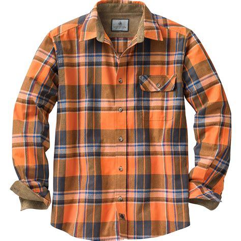 Topping Flanel Orange legendary whitetails s buck c flannel shirt ebay