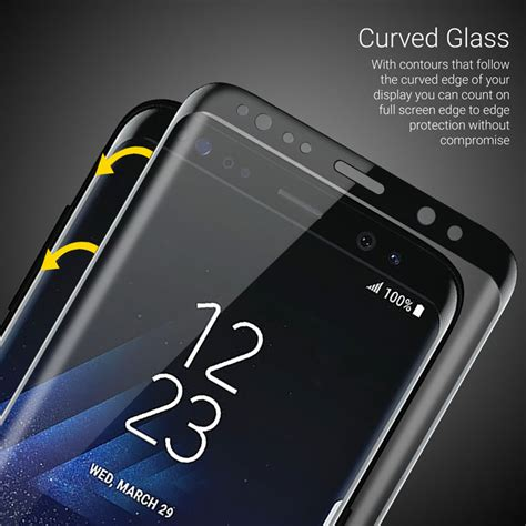 Tempered Glass 4d Samsung Galaxy S8 Plus Black Friendly olixar galaxy s8 plus cover glass screen protector