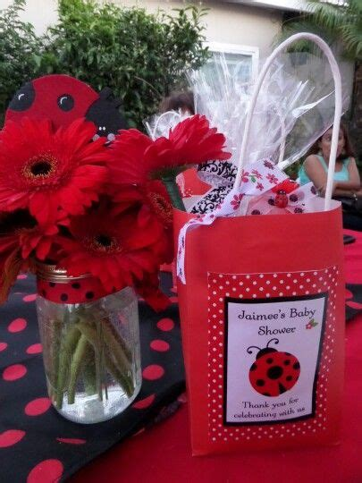 S Creations Birthday Theme Centerpieces Ladybug Favor Bag N Centerpiece Ideas